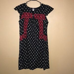 a black and red sun dress